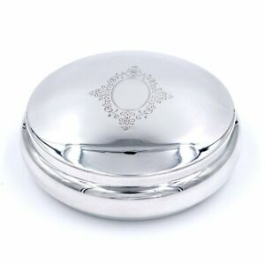 Sterling Silver Round Jewelry Box