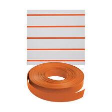 New Retails Orange Vinyl Finished Slatwall Insert 130'Length
