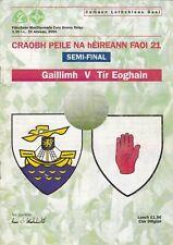 2000 ALL IRELAND U-21 FOOTBALL SEMI-FINAL TYRONE V GALWAY