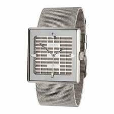 """EOS New York """"Petra Steel"""" Cuarzo Malla Acero Swarovski Mujer Reloj Plata"""