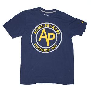 NIKE Acme Packers Blue Regular USA Short Sleeve T-Shirt Mens M