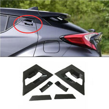 Carbon Fiber Style Rear Door Handle Cover Trim For Toyota C-HR CHR 2016-2018