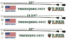 1976-1977 1/2 Jeep CJ 3 Pack Combo Temp./Heater/Air Box Control Cable Set