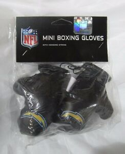 NFL Los Angeles Chargers 4 Inch Mini Boxing Gloves for Mirror by Fremont Die