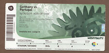 Used Ticket  Fifa World Cup Brazil 2014 GERMANY - PORTUGAL // match 13 / Edt.A !