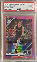2019-20 Donruss Optic Hyper Pink #16 Luka Doncic PSA 9 MINT MAVERICKS