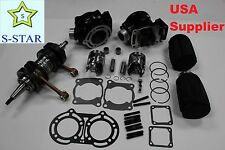 Yamaha Banshee YFZ350 STD Cylinder Piston Gasket Crankshaft Air Filter w/ Cover