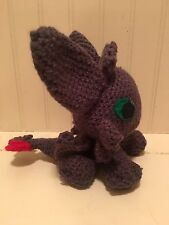 "Knit Crochet How Train Your Dragon Amigurumi plush Toy TOOTHLESS 8"" MAKE OFFERS"