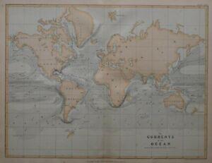 """1877 Aufdruck Mao Currents Der Ozean Streifen Von See Gras Gulf Bach """""""