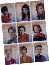 "Women Of Star Trek 2010: 9 Card ""Leading Ladies"" Acetate Chase Set LL1-LL9"