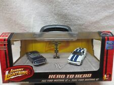 1965 Ford Mustang GT & 2005 Ford Mustang GT Johnny Lightning with Drag light