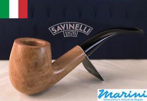 Smoking pipes pipe Savinelli 606 KS curve briar natural waxed wood made in Italy