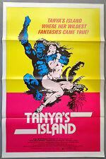 vtg tanya's Island movie poster Frank Frazetta 80's exploitation one sheet art