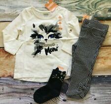 Gymboree 12 18 24 Catastic Cat Meow Gem Top Houndstooth Ponte Pants Socks NWT
