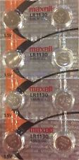 8 PACK Maxell Hologram LR1130 189 Alkaline Coin Cell Batteries 1.5V- USA Seller