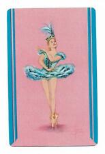 BALLET IN BLUE X 1 ONLY SINGLE VINTAGE BALLET PLAYING/SWAPCARD..    .