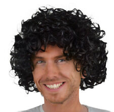 Black Curly Fancy Dress Wig. 70's, 80's, Pop band, Movie, Disco, Hippie, Scouse