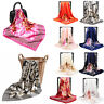 Fashion Women's Printed Satin Silk Square Scarf Neck Wrap Head Shawl Scarves