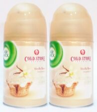 2 REFILLS Air Wick Freshmatic COLD STONE VANILLA BEAN Automatic Room Spray Fresh