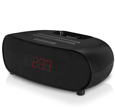 FM Bedside Dual Digital Alarm Clock Radio & MP3 Music Player Black