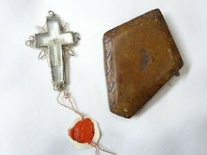 ✝ Reliquary Relic True Cross Crucis D.N.J.C. OF OUR LORD JESUS