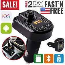 Bluetooth FM Transmitter Car Aux Radio FM Modulator Adapter Kit Wireless MP3