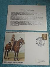 Enveloppe Premier Jour FDC National army museum Group 2 N° 10 Cavalry Boer war