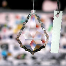Maple Leaf Clear Chandelier Glass Lamp Prisms Parts Suncatcher Pendants 38MM