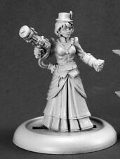 Mad Scientist Female Reaper Miniatures Savage Worlds Steampunk Weastern Robotic