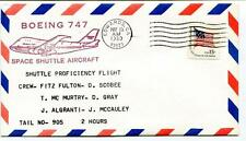 1980 Boeing 747 Space Shuttle Aircraft Fulton Scobee Murtry Gray Algranti USA