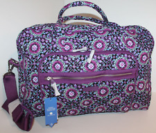 VERA BRADLEY ICONIC WEEKENDER LARGE TRAVEL BAG IN  LILAC MEDALLION NWT