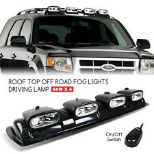 "4x 8"" Off Road 4x4 Driving Lamp Spot Light Bar Roof Mount Overhead Pod White 55W"