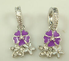 New European Silver Charm Bead Fit sterling 925 Necklace Bracelet Chain US dsj62