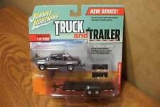 JOHNNY LIGHTNING TRUCK AND TRAILER 1996 DODGE RAM with CAR TRAILER R1-VA