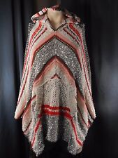 Free People Sweater Shawl Poncho Size XS S Hooded Hippie Boho