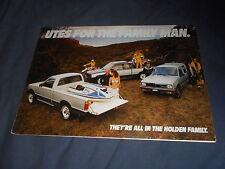 1986 Holden Utes Pickup by Isuzu Australian Market Color Brochure Prospekt