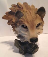 Wolf / Wolves Figurine Bust - Resin - Beautiful Life Like 10 1/2 Inches High