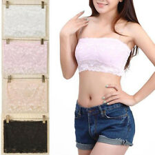 3 Colors Sexy Lace Bandeau Solid Strapless Women Crop Boob Tube Top Shirt Vest