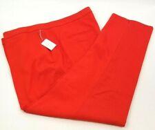 Dalia Orange Designer Cool Coral Reef Cotton Stretch Capris crop pants sz 18W