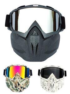 Winter Anti Fog Ski Goggles Snowboard Motocross Half Face Mask Snow Sports Lens