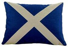 Scottish St Andrew Flag Gift Quality Chenille Scotland Cushion by EvansLichfield