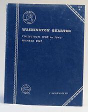 WHITMAN US COIN BOOK # 1 WASHINGTON QUARTERS 1932 to 1945 folder 9018 v1 globe
