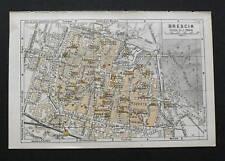Antica Stampa=Topografia= BRESCIA =Scala1:19000 -1909c.