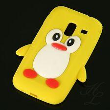 Samsung Galaxy Ace Plus S7500 Silikon Case Schutz Hülle Cover Etui Pinguin Gelb