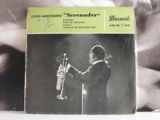 "LOUIS ARMSTRONG - SERENADES 45 GIRI EP 7"" VG+/VG+ BRUNSWICK 10 002 EPB"