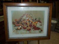Old / Vintage Framed Fruit Still Life Print
