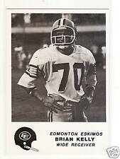 1981 Jogo CFL #25 Brian Kelly ESKIMOS U of WASHINGTON