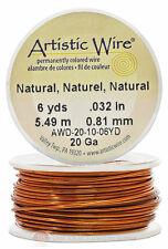 Natural Artistic Craft Wire 18 Feet 5.48 Meters Jewelry Beading Crafts 20 Gauge