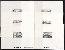 épreuve de luxe  série de 6 célébrités  de  1966   num: 1470/75