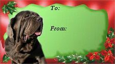 Neapolitan Mastiff Christmas Labels by Starprint